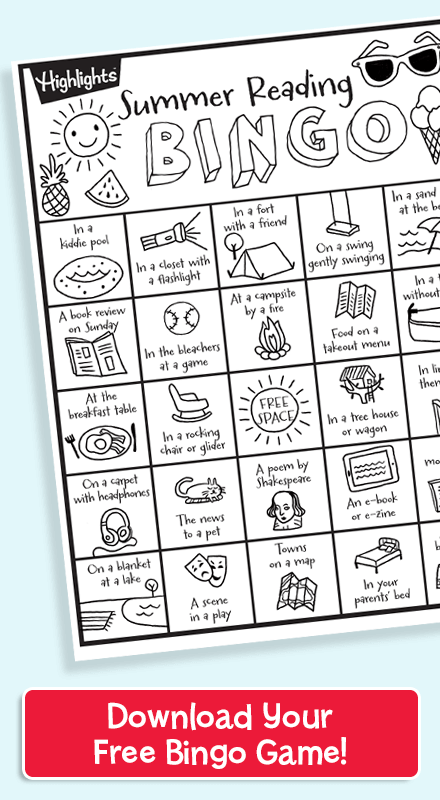 Download your free summer reading bingo game