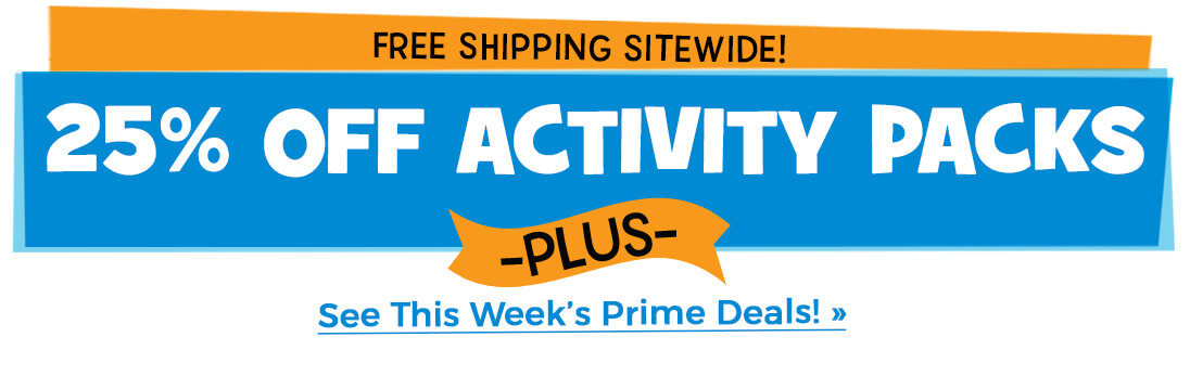 Get 25% off activity packs