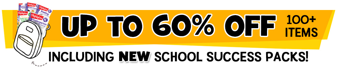 Get up to 60% Off more than 100 items, including new School Success Packs