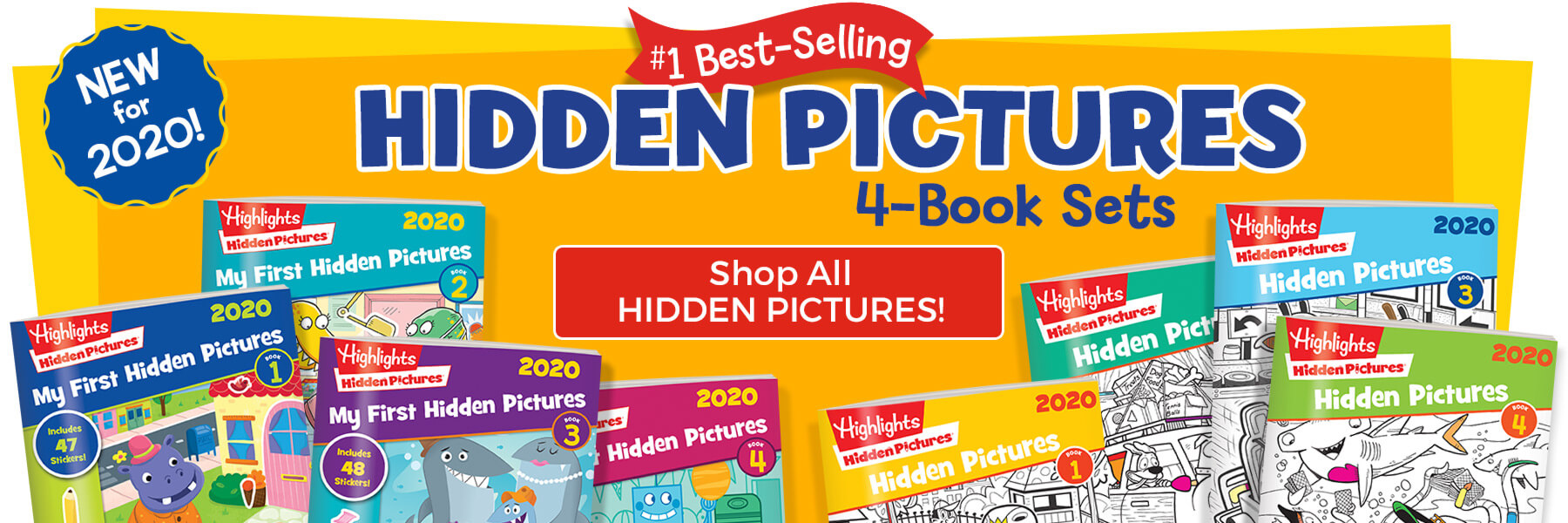 Get the #1 best-selling Hidden Pictures 4-book sets — new for 2020