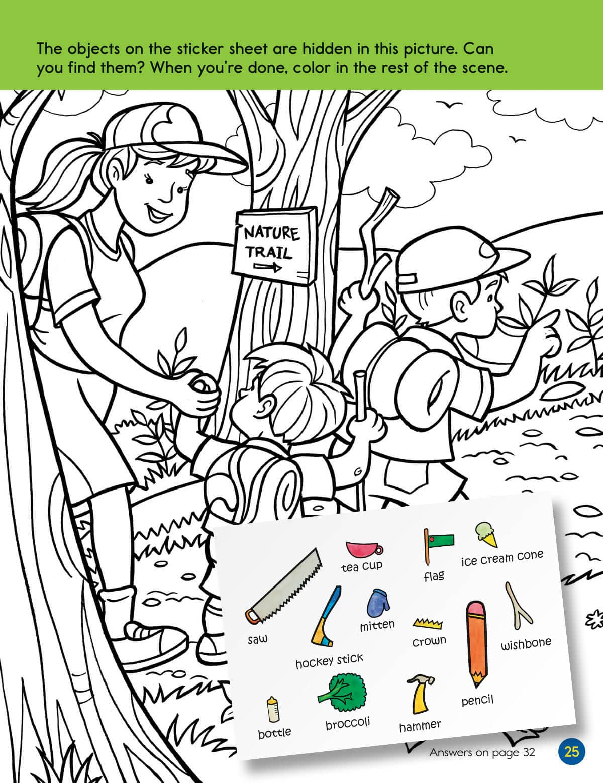 three sticker puzzles in every book - Hidden Pictures For Kids