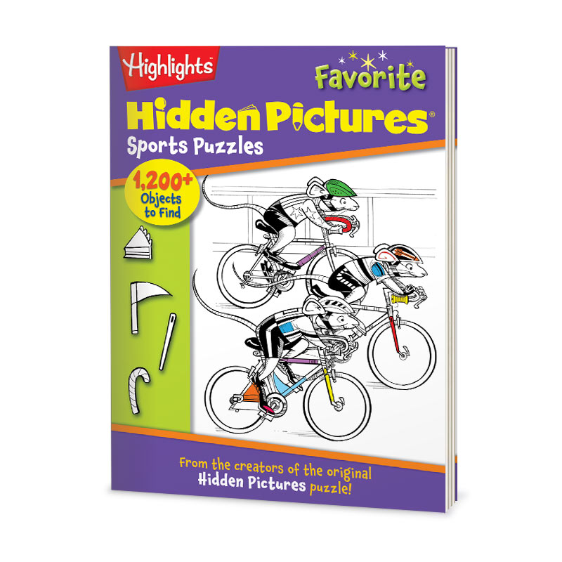 Hidden Pictures® Favorites: Sports Puzzles Everyone can get in the game with this collection of Hidden Pictures® Favorites, featuring sports-themed puzzles from Highlights magazines. Get more than 100 puzzles and 1,200 hidden objects for hours of unplugged, skill-building fun! 144 pages. Answers included.