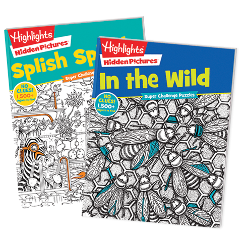 Hidden Pictures Super Challenge 2-Book Set: In the Wild and Splish Splash