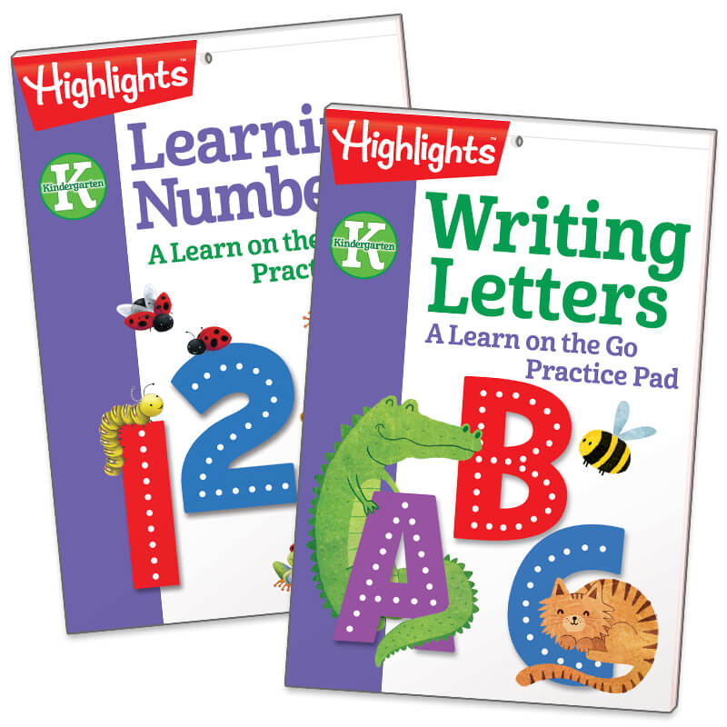 Writing Letters and Learning Numbers Practice Pads Set of 2