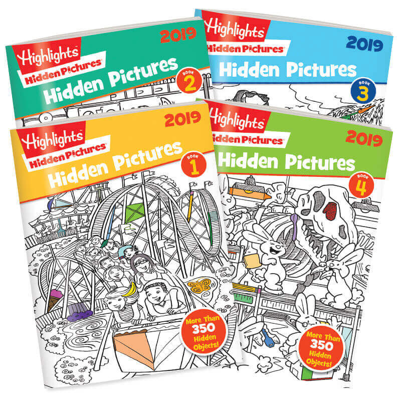 Hidden Pictures 4 Book Set