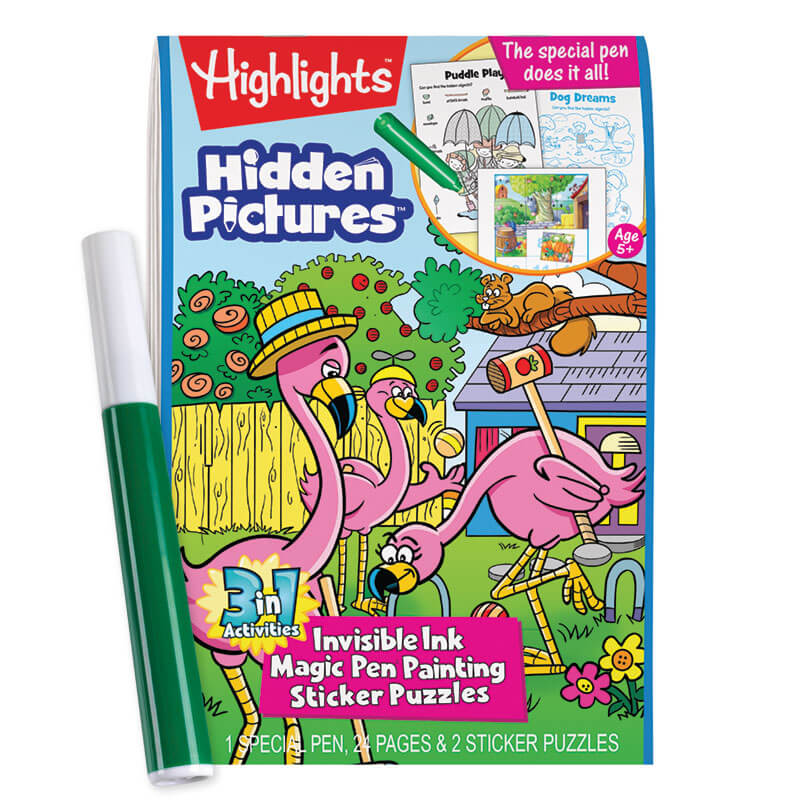 Highlights 3-in-1 Invisible Ink Book: Hidden Pictures