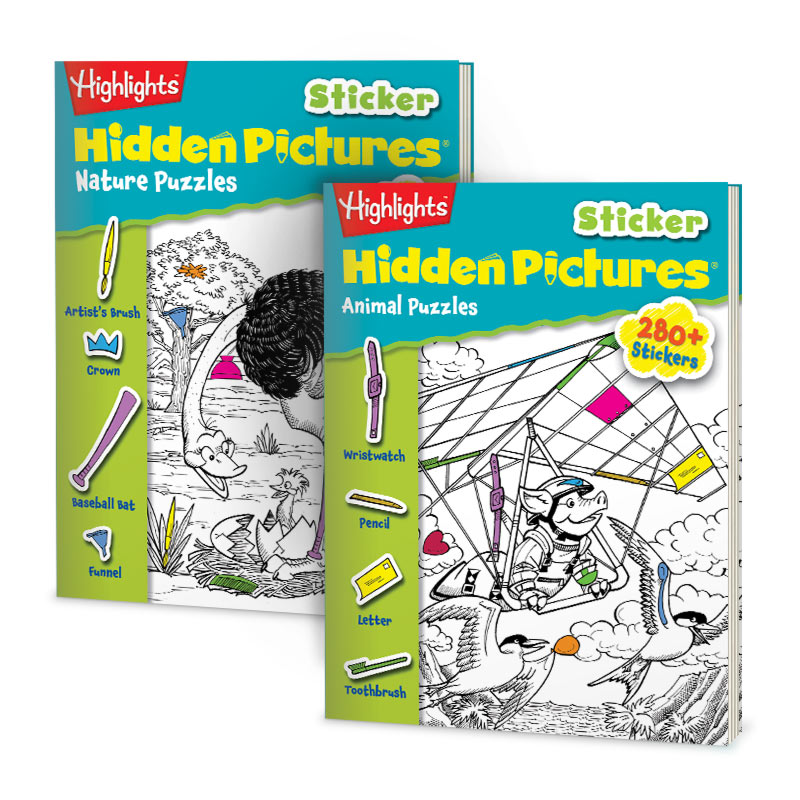 'Highlights' 'Hidden Pictures Playground' and 'Puzzle Buzz' Book LOT LOT of 9 :)