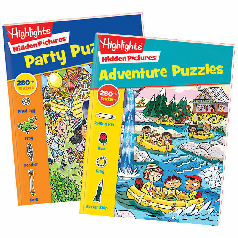 Hidden Pictures® Stickers 2-Book Set: Party & Adventure Puzzles