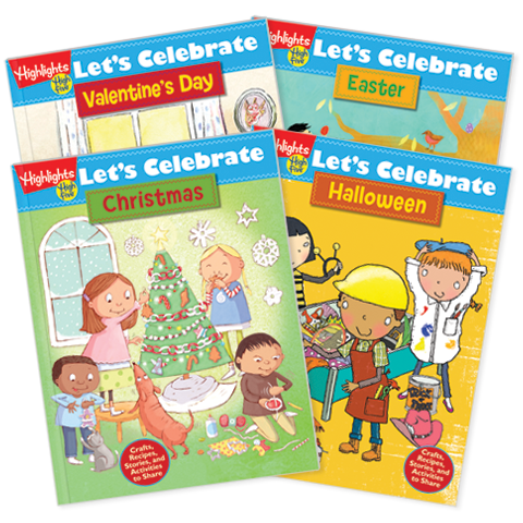 Let's Celebrate Activity Books, 4-Book Set