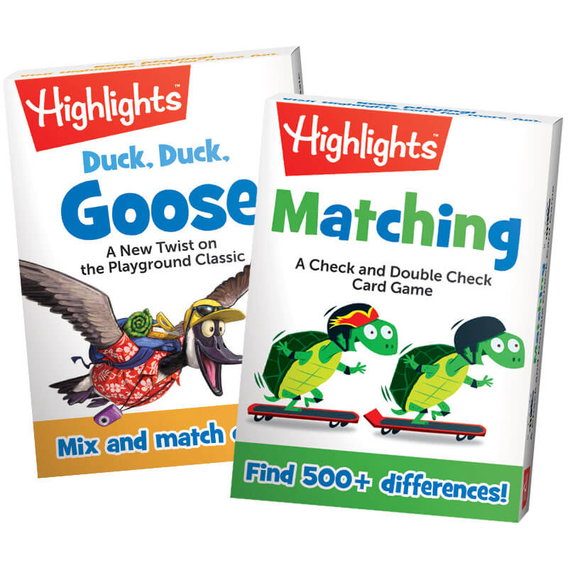 Highlights Matching Card Games Set of 2