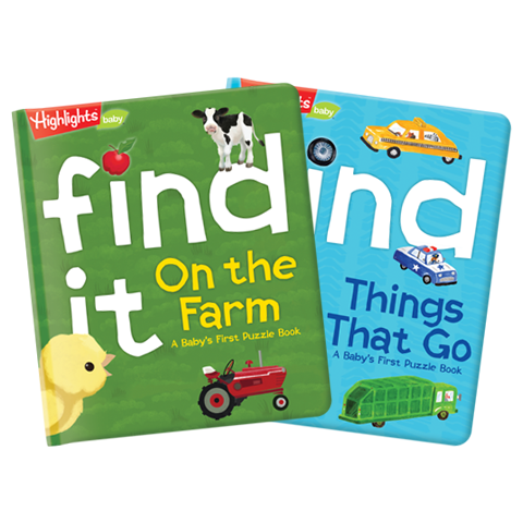 Find It! On The Farm and Things That Go 2-Book Set