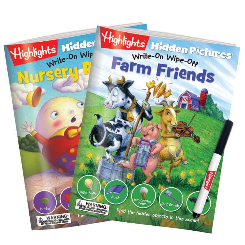 Write-On Wipe-Off: Farm Friends and Nursery Rhymes 2-Book Set