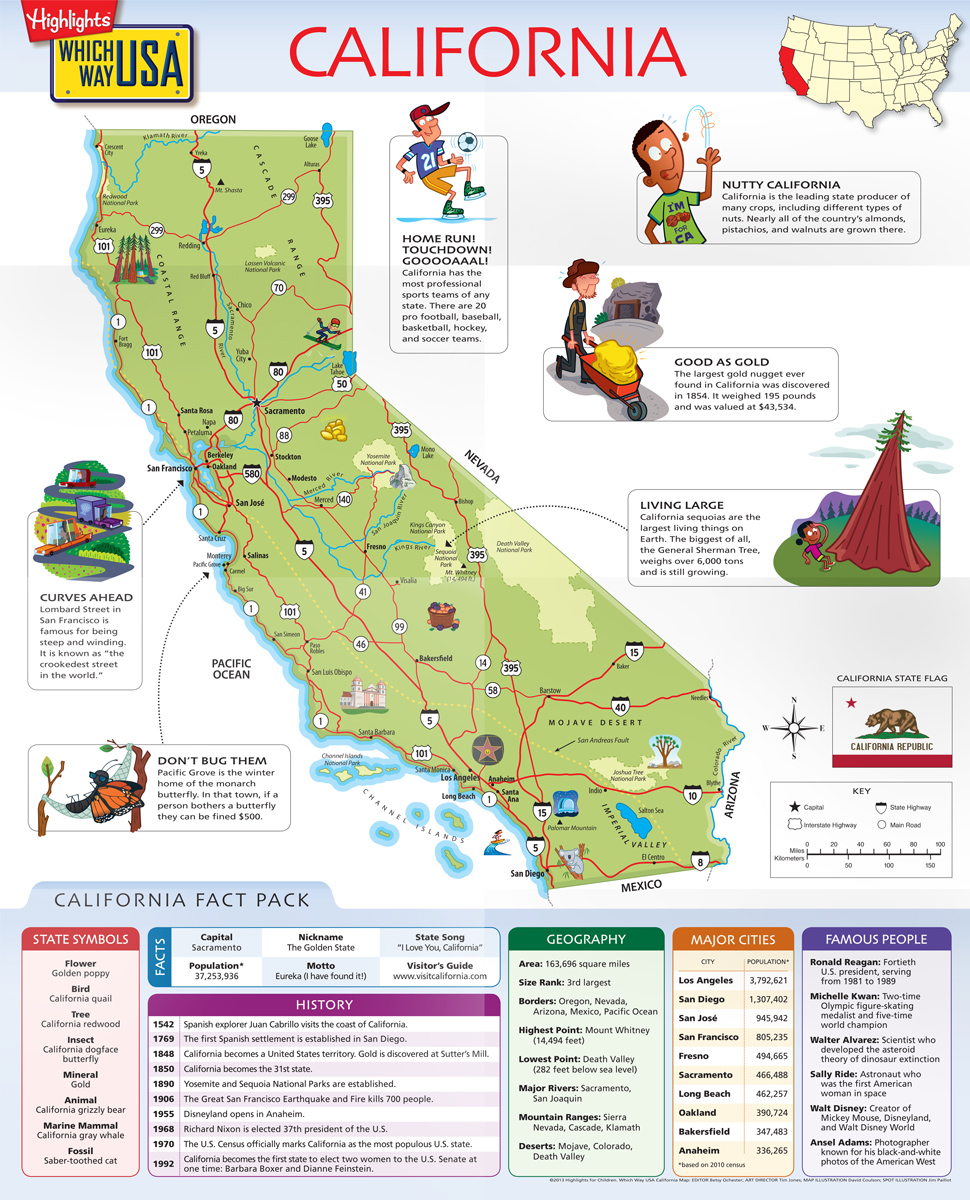 Geography Books For Kids With USA Puzzles Which Way USA - Picture of usa map