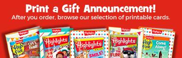 Print a Gift Announcements