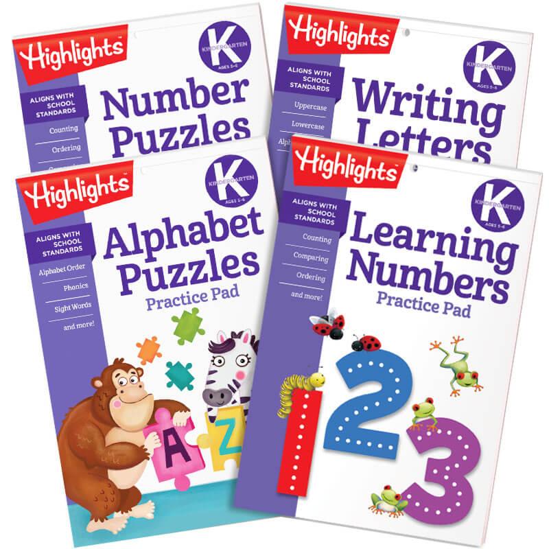 Kindergarten Learning Practice Pads