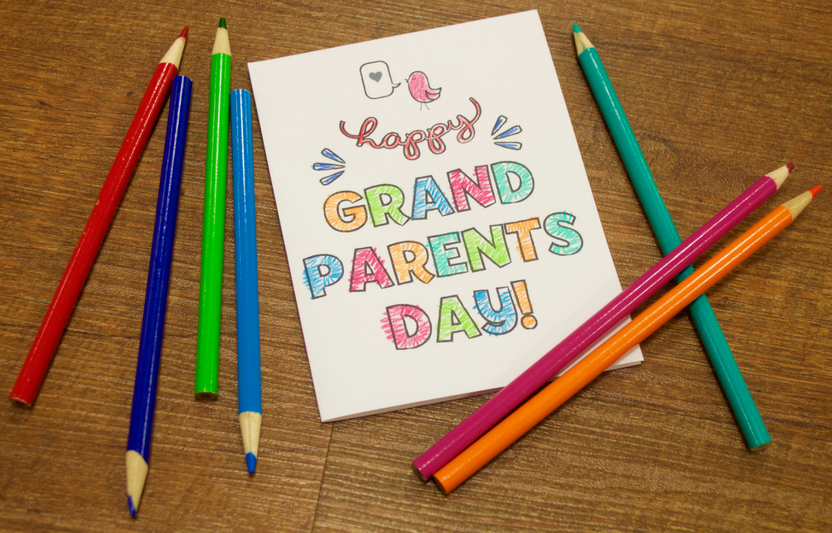 photo about Printable Grandparents Day Card referred to as Grandparents Working day Card Highlights for Young children