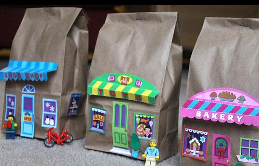 Paper Bag Village Craft For Kids Highlights Your Child Amp You