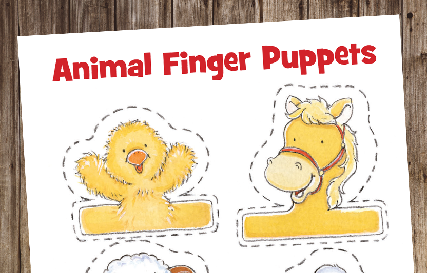 photo relating to Animal Printable known as Animal Finger Puppets Highlights