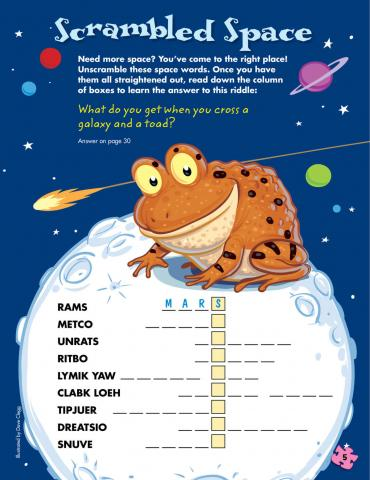 Encourage vocabulary development with word puzzles.