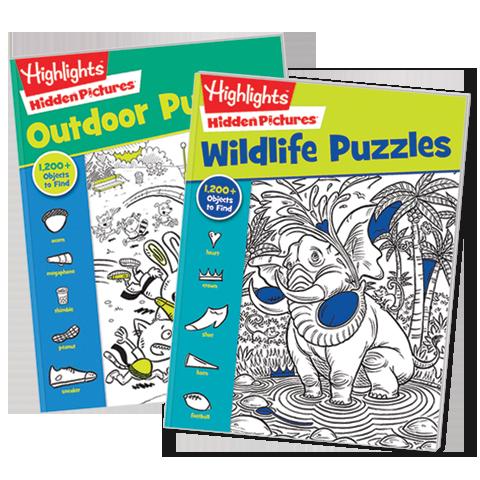 Hidden Pictures Favorites 2-Book Set: Wildlife and Outdoor
