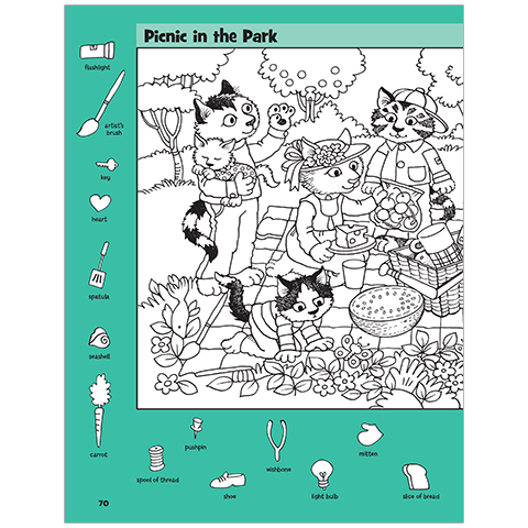Picnic in the Park Hidden Pictures Puzzle