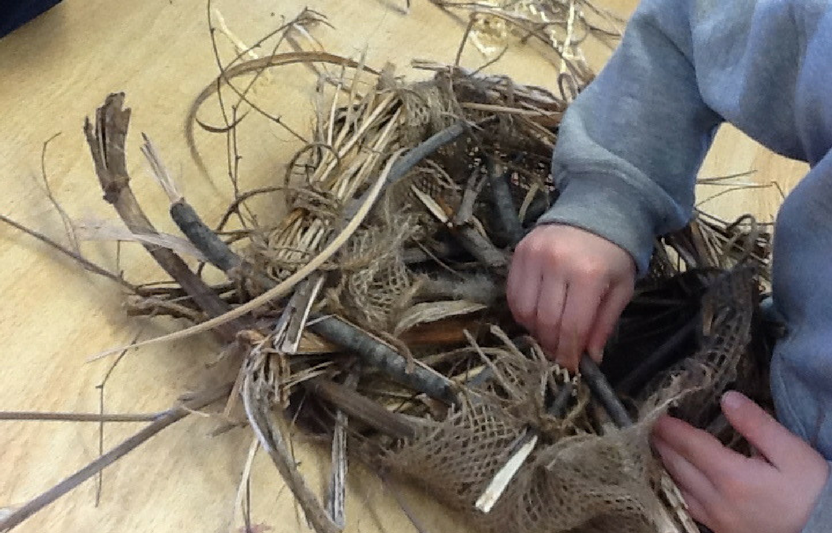 Hard work goes into building a home for our feathered friends. Have the kids gather materials and assemble their very own nest!