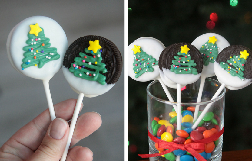 Transform a classic cookie into a festive, chocolate pop!