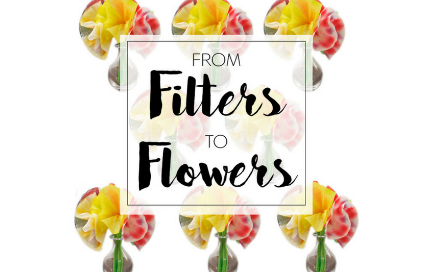 Even before your garden has bloomed, your kids can celebrate spring by transforming white coffee filters into bunches of these bright bouquets.