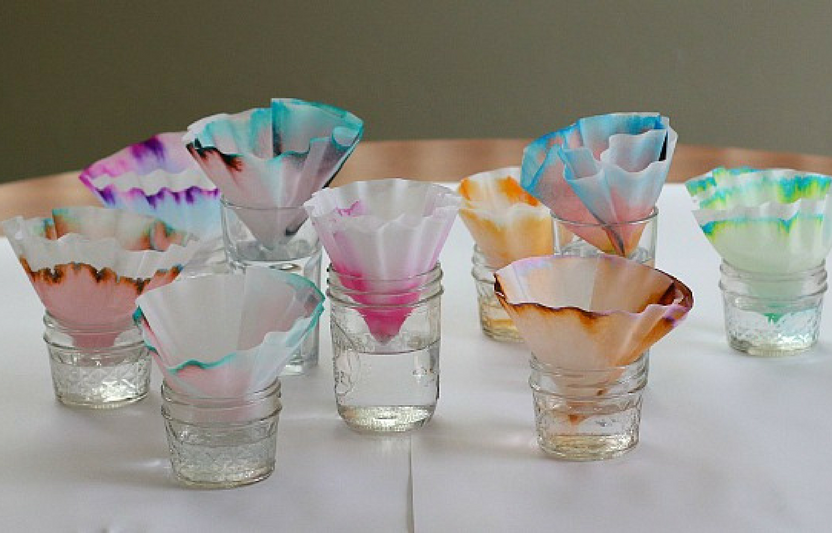 This experiment doubles as an art project that encourages your little scientist to explore separating color mixtures.