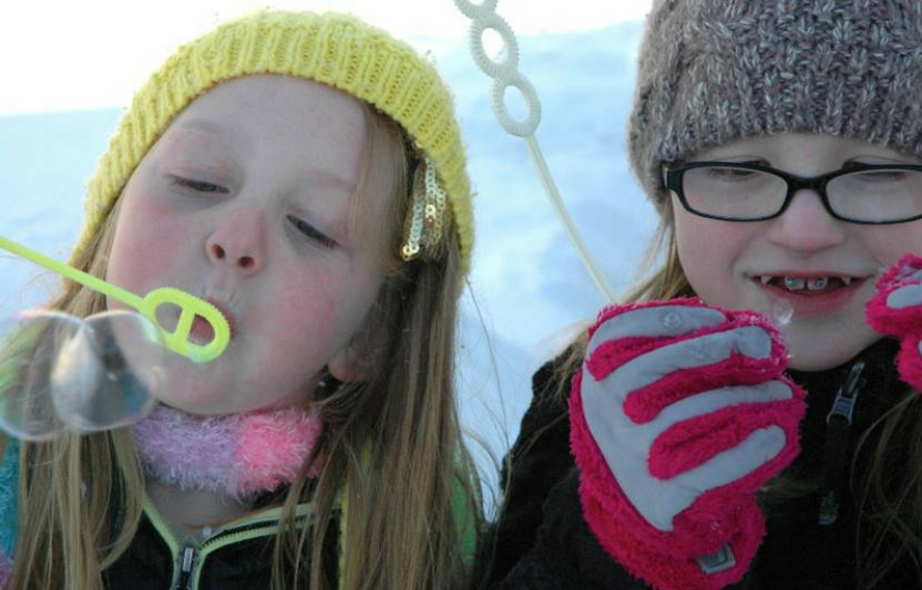 Looking for a fun activity you can do when it's freezing outside? Try blowing bubbles! That's right—surprising things happen when the water freezes...