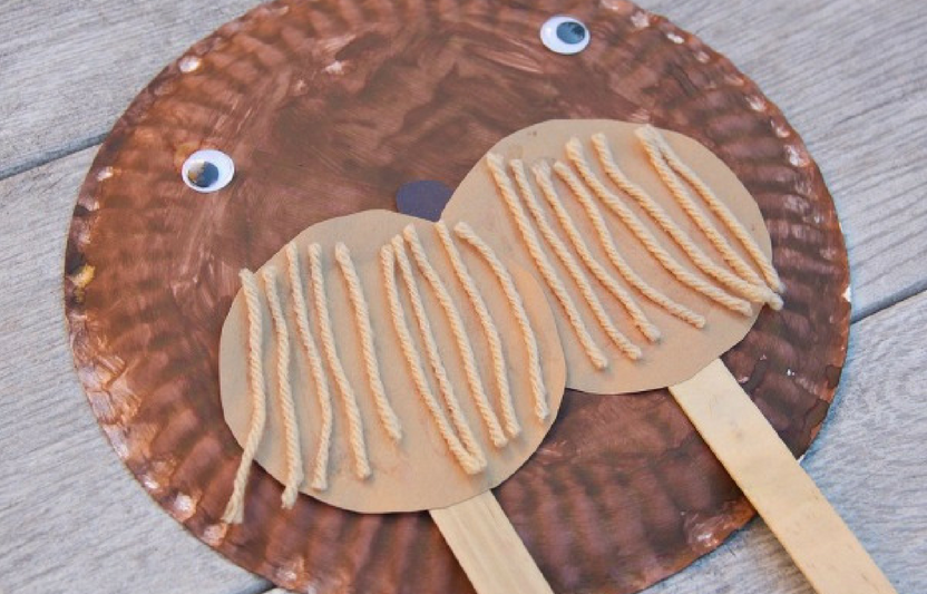 Your kids can use paper plates and craft sticks to create this cute walrus.