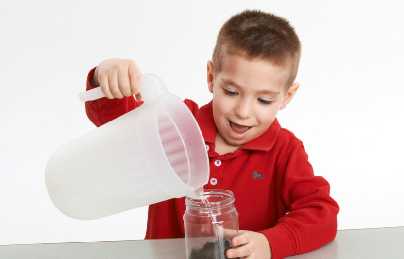 """Use the powers of observation to examine what's in your soil. Kids of all ages will """"dig"""" this simple experiment."""