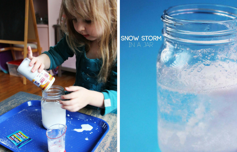If it's too chilly to play outside, stay warm and entertain the kids inside with this bubbly chemical reaction.