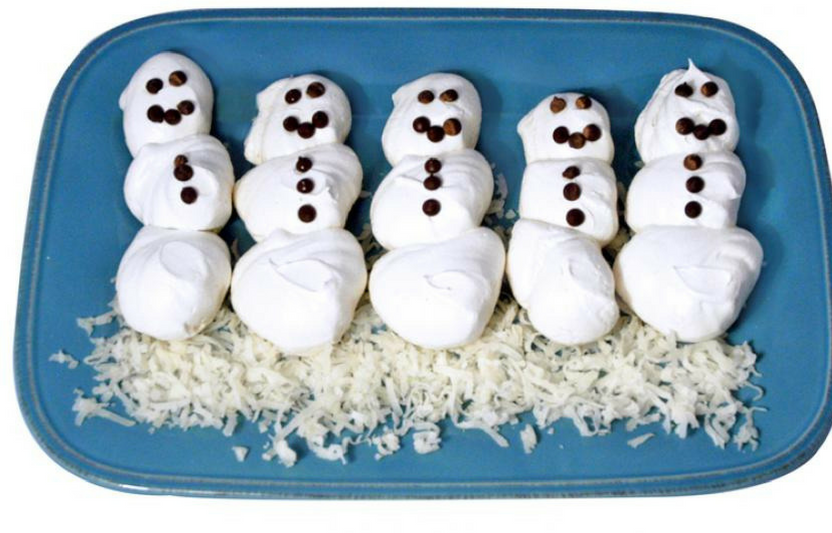 Your kids will be wowed at how egg whites transform into these fluffy, glossy meringue snowmen.