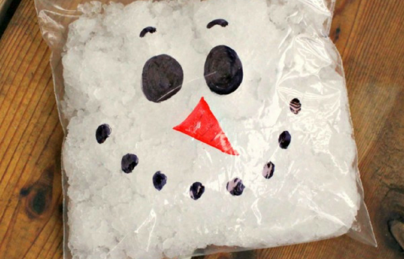 Keep the kids on their toes with an expanding snowman—that might even pop!