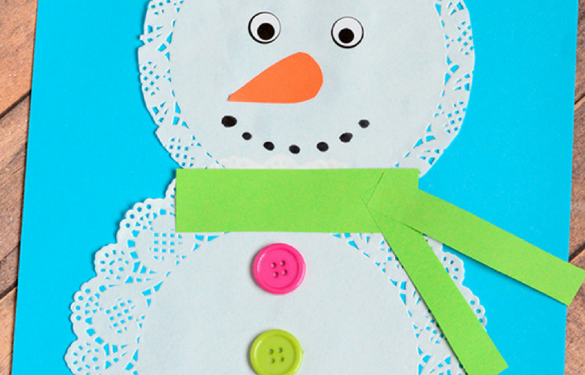 This delicate winter craft is easy to make and fun to personalize!
