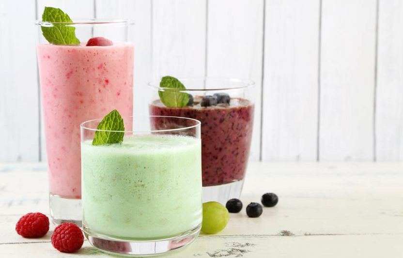 Your little chef will love choosing colorful, healthy ingredients and tossing them into the blender to make these sweet smoothies.