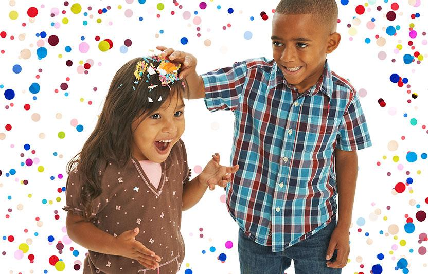 Eggshells filled with confetti, called cascarones, are a Mexican tradition during Easter. A child gently crushes the egg over a friend's (or sibling's) head so the confetti showers out. It may sound strange, but it's actually lots of fun.