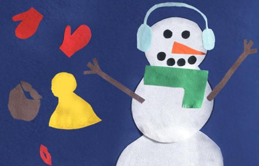 Encourage your child to cut out and decorate a variety of clothes for this snowman.