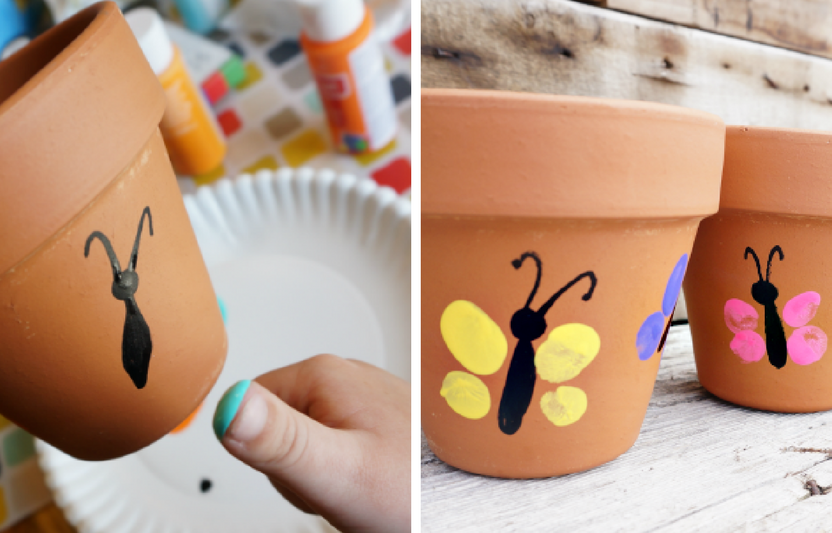 Your kids will love planting seeds in their very own personalized flower pot.
