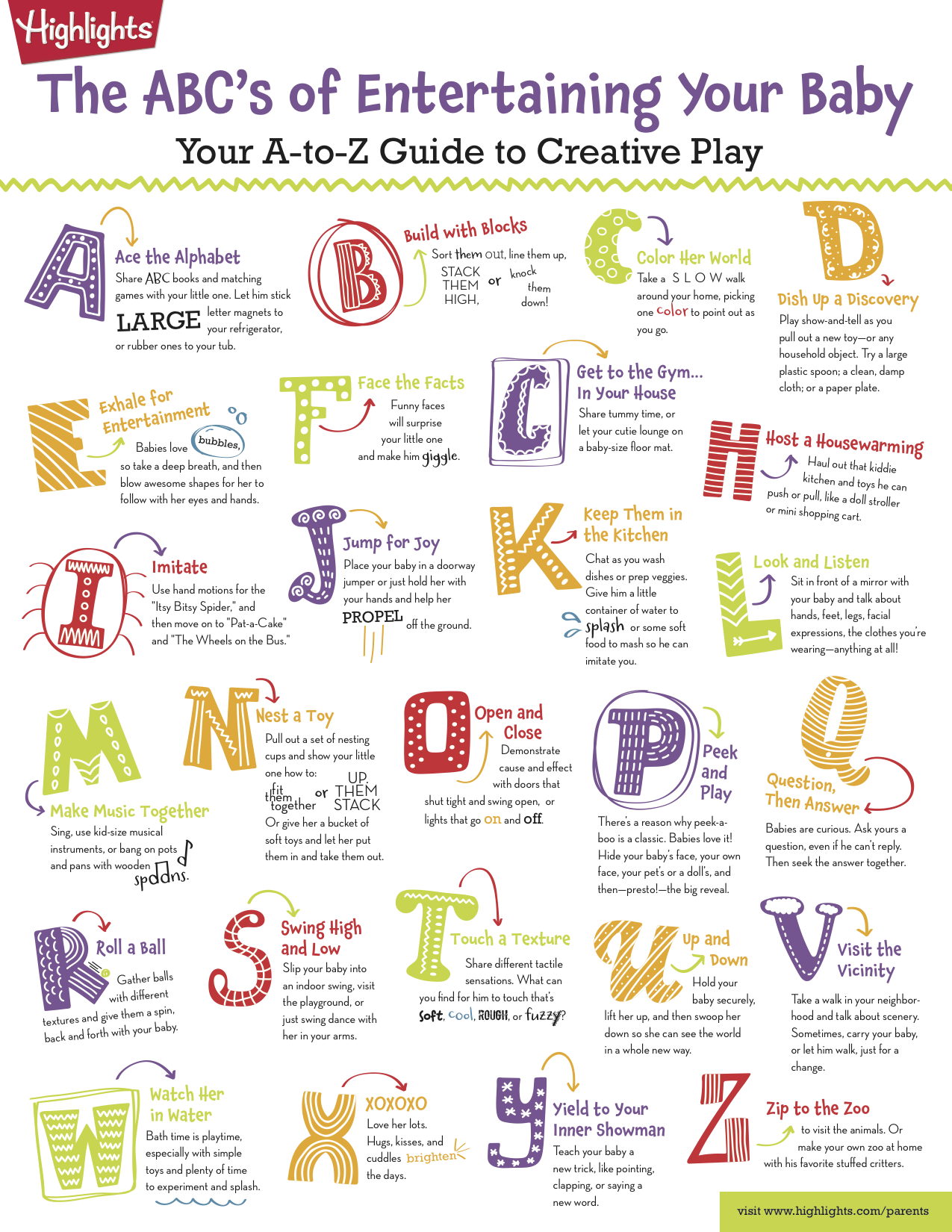 The ABC's of Entertaining Your Baby