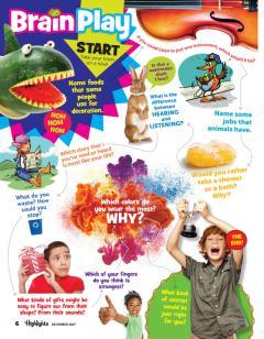 Inside Highlights® Magazine December 2017 BrainPlay