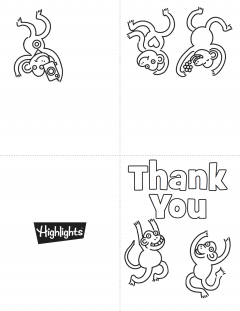 photo about Free Printable Thank You Cards to Color referred to as Printable Thank On your own Playing cards Highlights