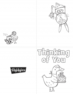 image relating to Free Printable Thinking of You Cards referred to as Printable Coloring Playing cards Highlights