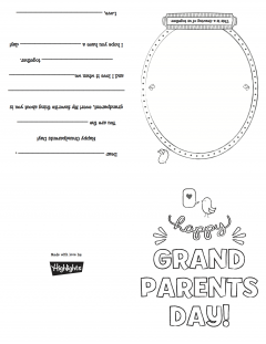 graphic regarding Grandparents Day Cards Printable known as Grandparents Working day Card Highlights for Small children