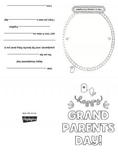 Printable Grandparent's Day Card | Highlights for Children
