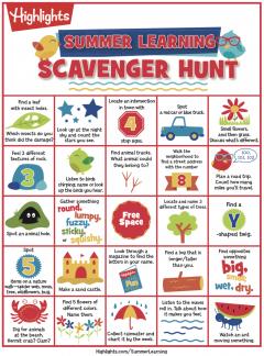 Summer Learning Printable Scavenger Hunt