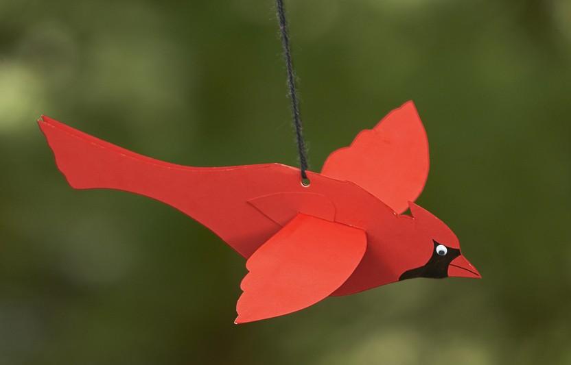 Flying Cardinal Mobile
