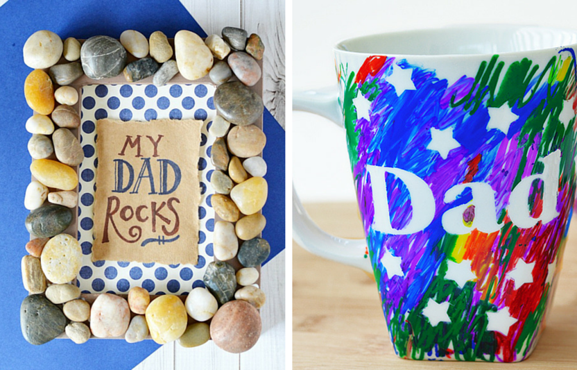 """There's nothing sweeter than a receiving a heartfelt, handmade gift from your kiddos, right? This Father's Day, have your kids surprise Dad with one of these awesome DIY presents that are sure to say """"I love you!"""""""