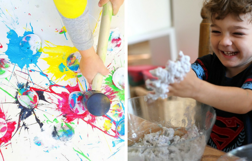 Sometimes creativity can get messy!